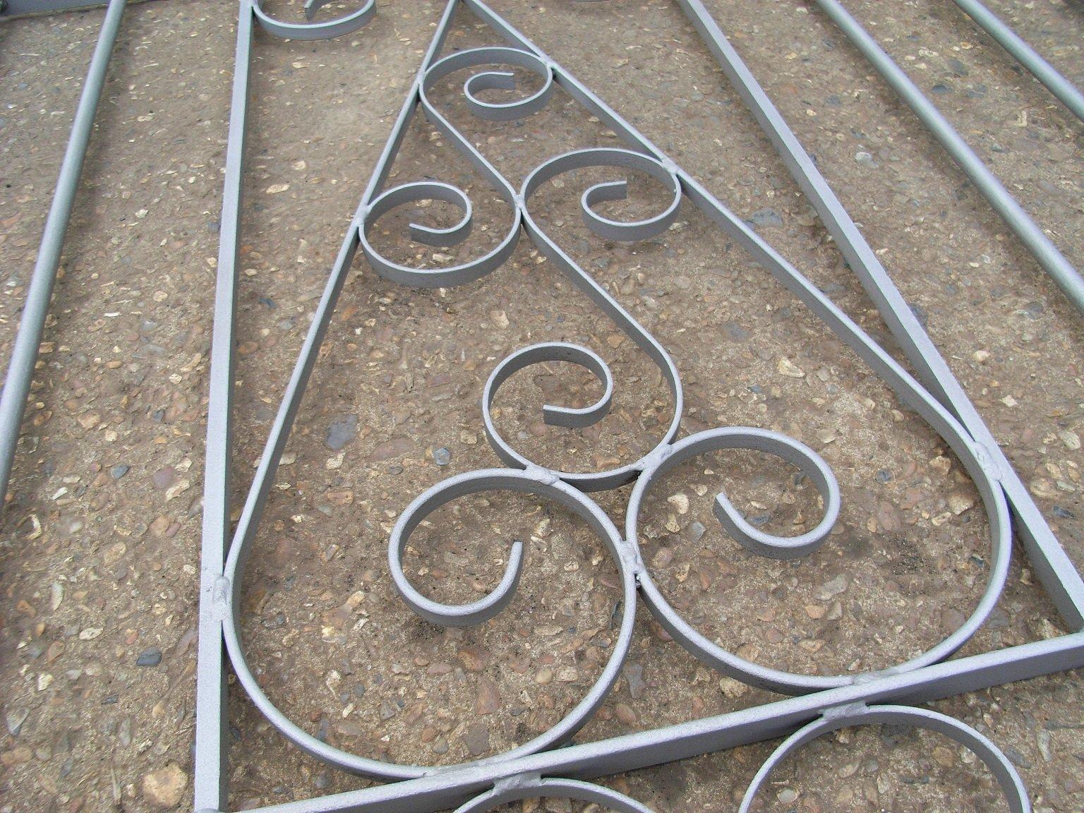 grey metal grille