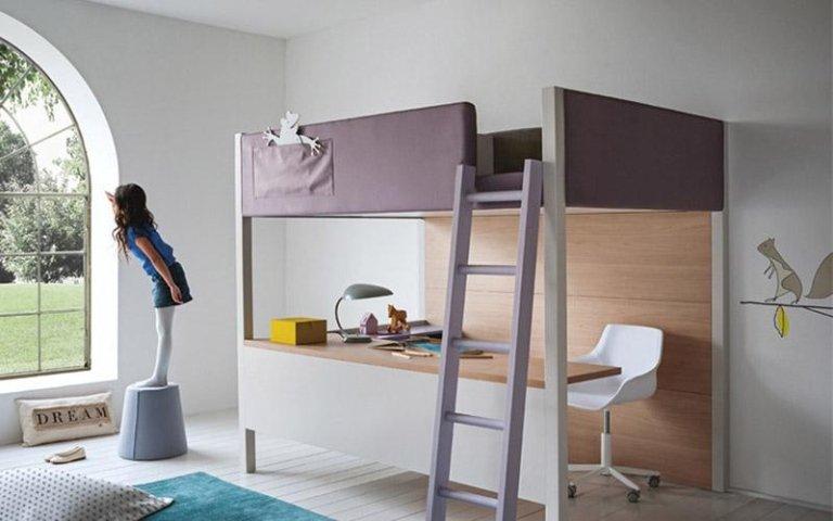 Cameretta modello nidi moods letto e scrivania