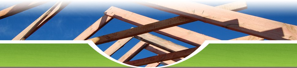The beams of a wooden roof structure