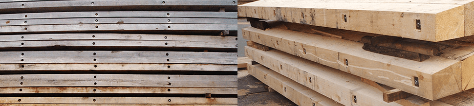 Two piles of timber planks