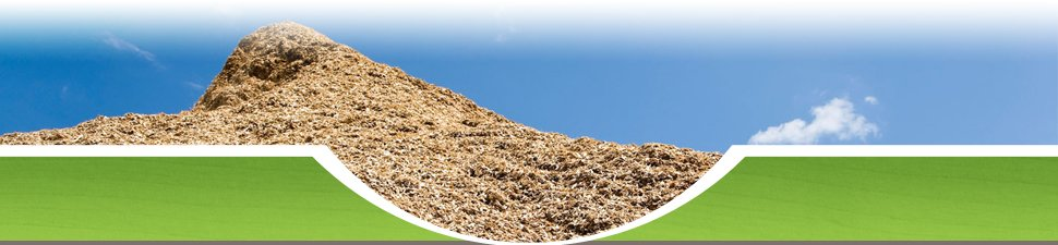 A pile of wood chip