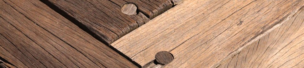 Wood planks bolted together