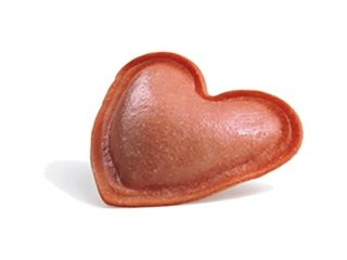Cuori rossi con mozzarella di bufala, pomodoro e basilico