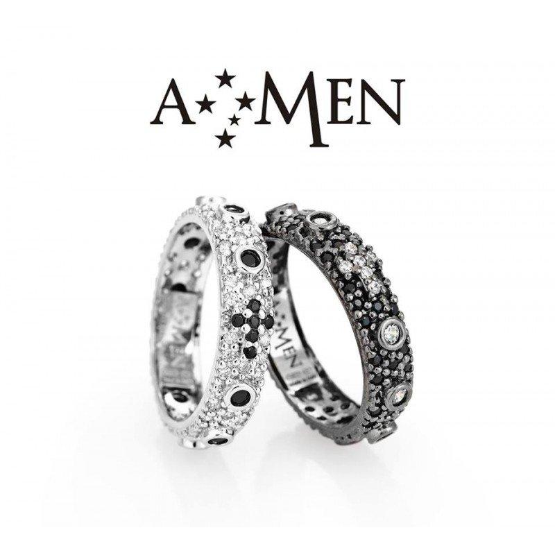 Due anelli di metallo scuro marca Amen