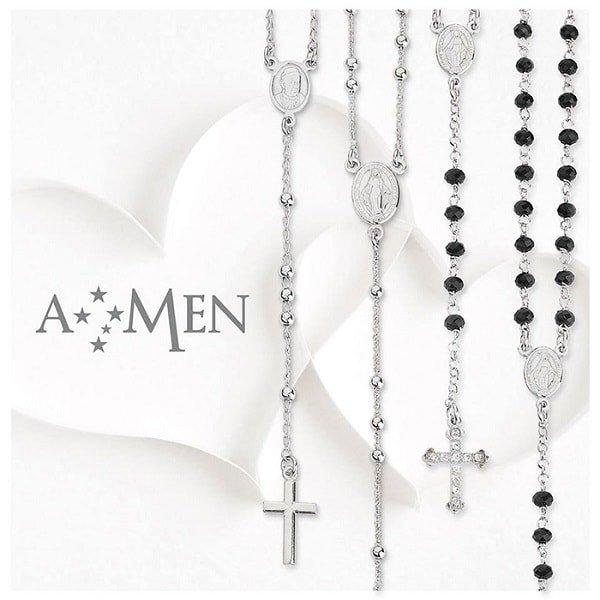 Collanine, rosari e catenine con croci marca Amen