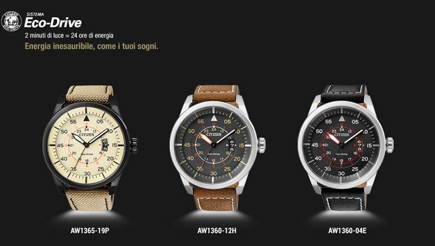Tre orologi con cinturini in pelle di diversi colori