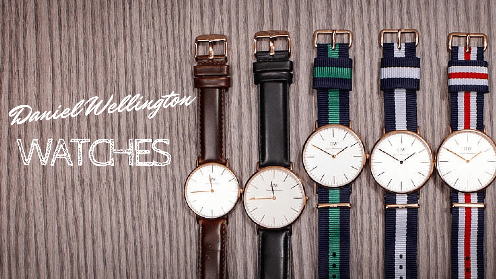 Diversi orologi in fila con cinturini di colori diversi