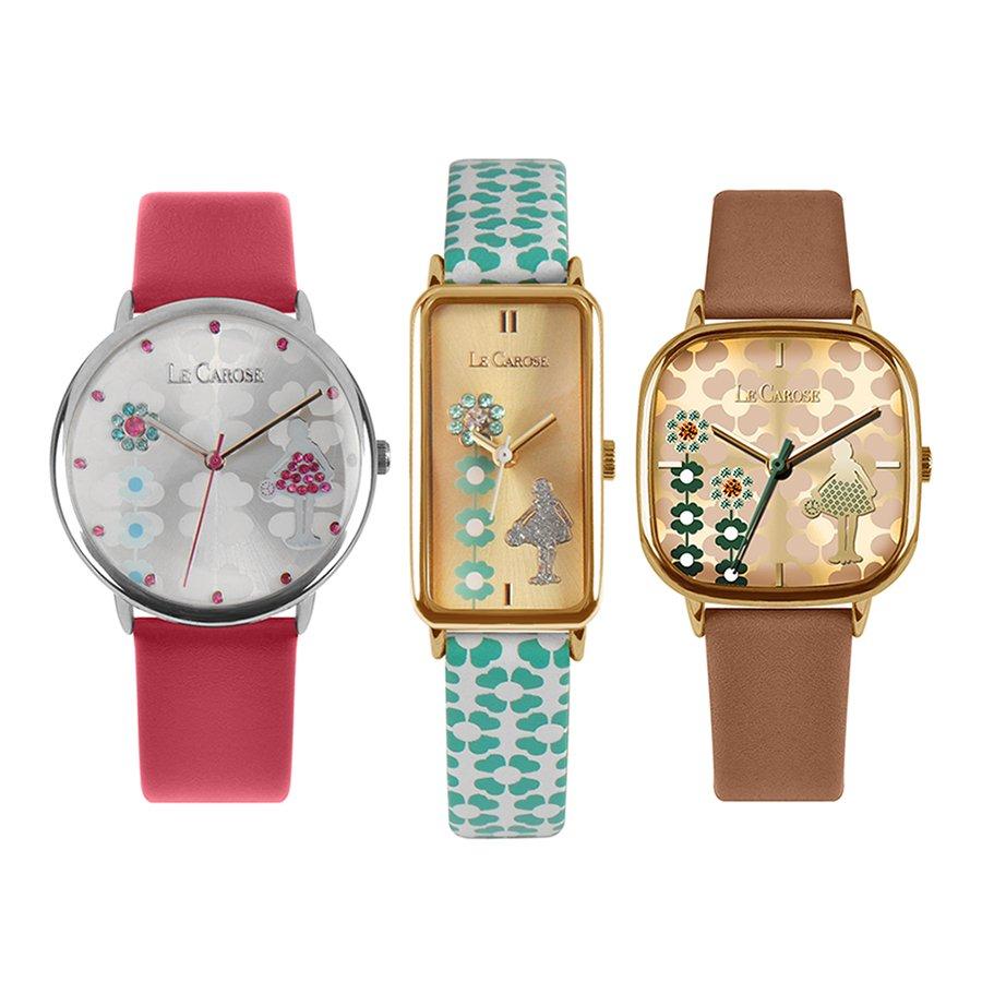 Tre orologi di forme e colori ndiversi