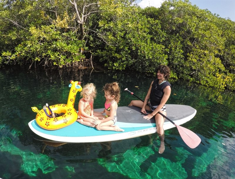Family Paddleboarding Guided Tour in Casa Cenote Tulum