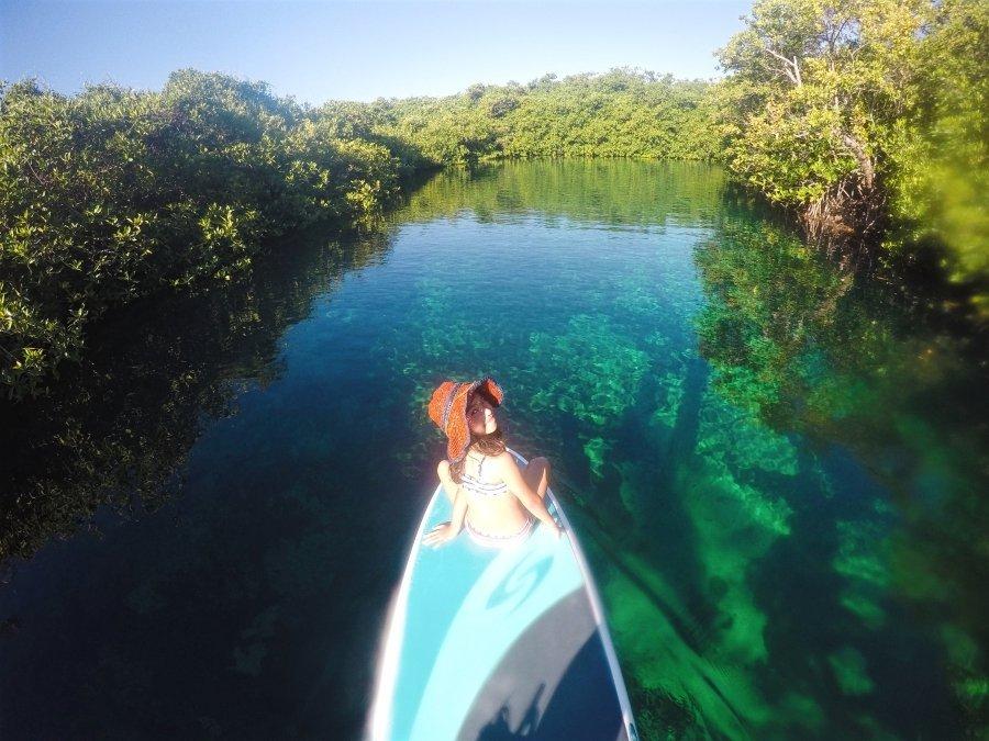 Family Tour to Paddleboard in Kaan Luum Lagoon Tulum
