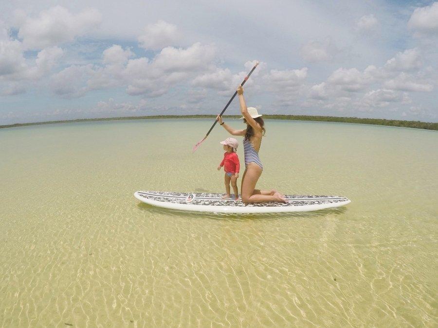 Have Fun Paddleboarding in Kaan Luum Lagoon Tulum