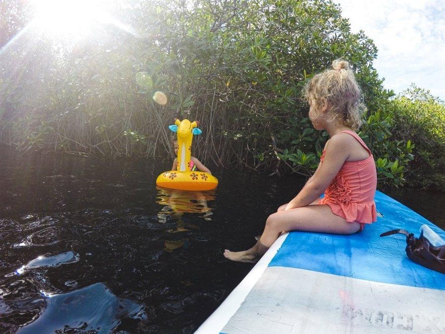 Mayan Clay in Kaan Luum Lagoon SUP Tour