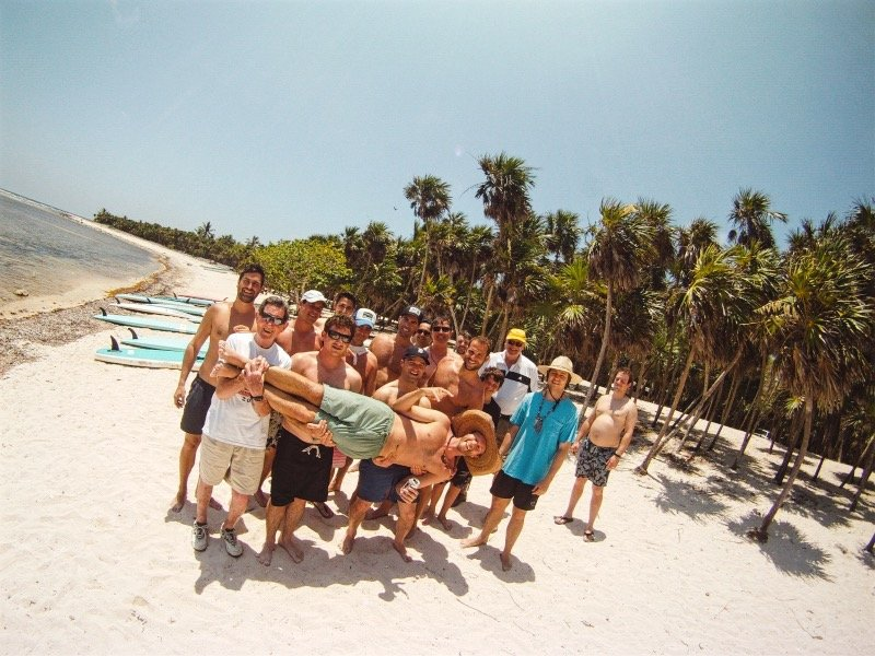 Family Tour to Paddleboard in Kaan Luum Lagoon Tulum
