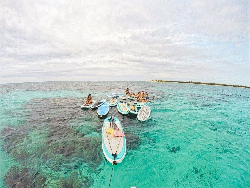 Stand Up Paddle Boarding Tour to Kaan Luum Lagoon in Tulum