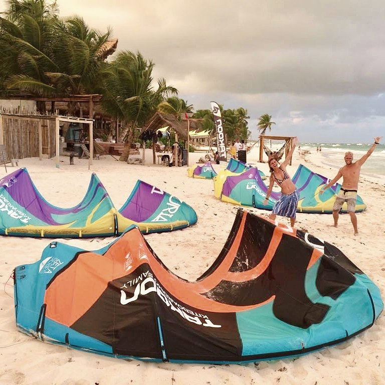 Find Kiteboarding Lessons at Ahau Tulum with Mexican Caribbean Kitesurf