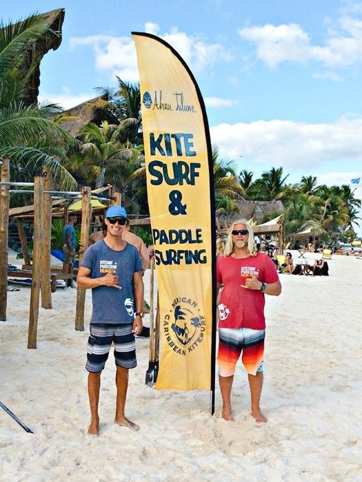 Will Kitesurfing Instructor Iko Certified at Mexican Caribbean Kitesurf Spot