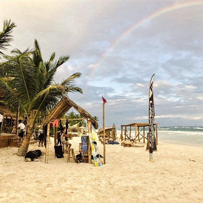 Find Mexican Caribbean Kitesurf at Ahau Tulum Beach