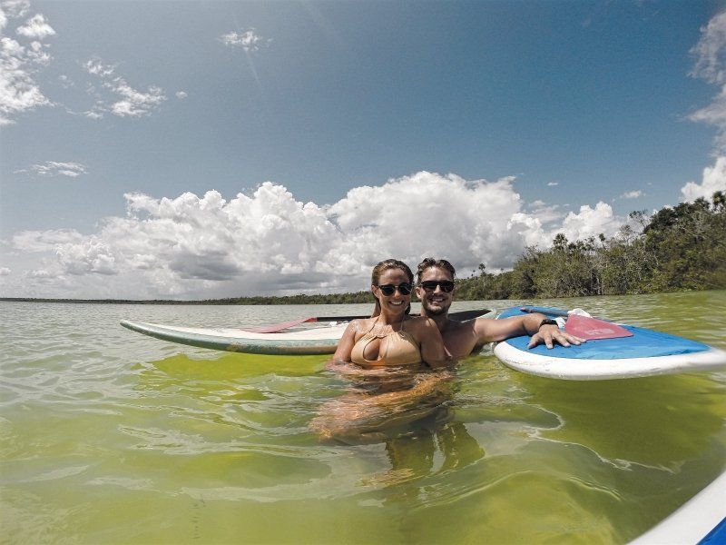 SUP Tour for a Couple in Kaan Luum Lagoon Tulum