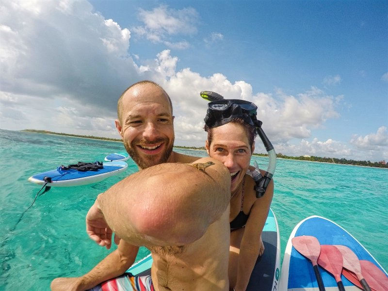 Stand Up Paddle Boarding and Snorkeling to Soliman Bay Tulum