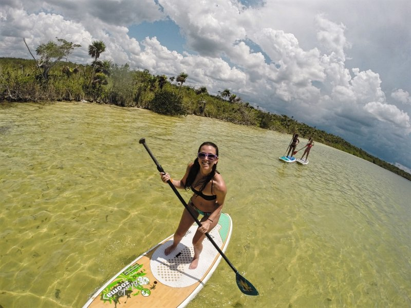 Stand Up Paddleboarding Experience in Kaan Luum Lagoon Tulum