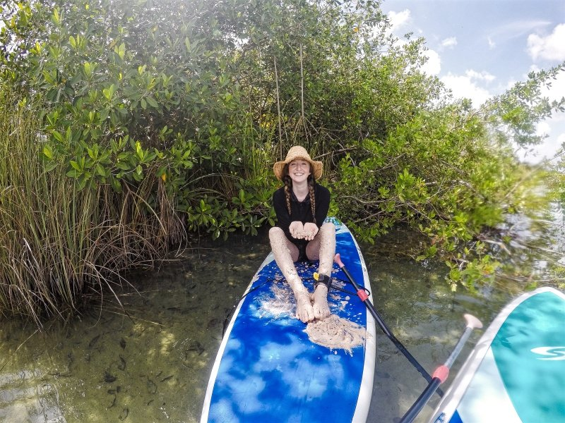 Mayan Clay in Kaan Luum Lagoon SUP Tour