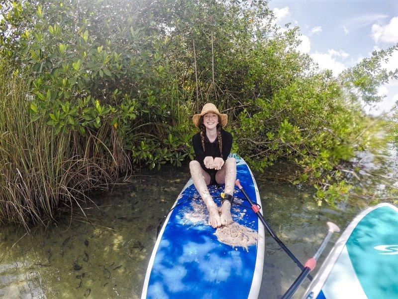 Barro Maya en Kaan Luum Lagoon SUP Tour
