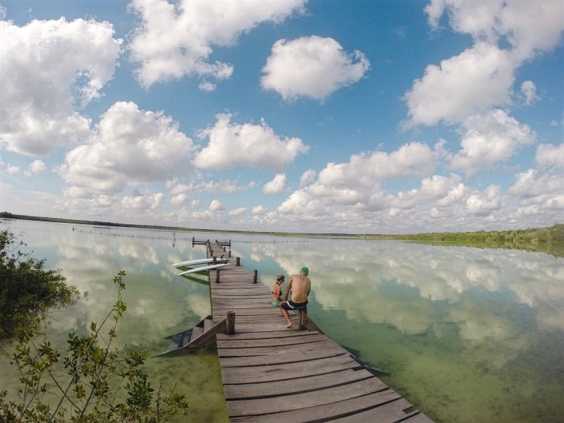 Paddleboard Tour en Laguna de Kaan Luum