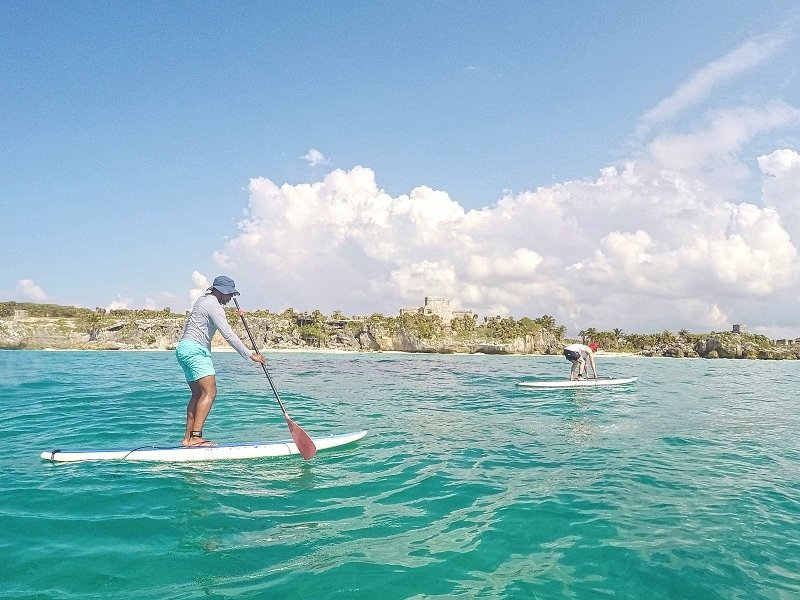 Stand Up Paddle Boarding to Tulum Ruins