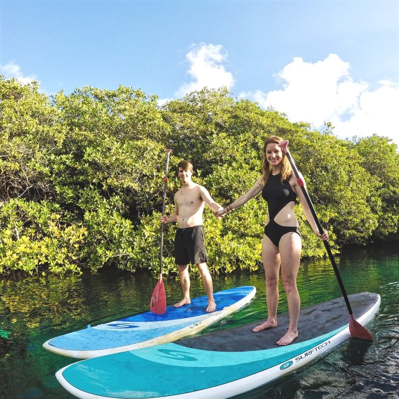 Stand Up Paddle Boarding and Snorkeling Tour to Casa Cenote