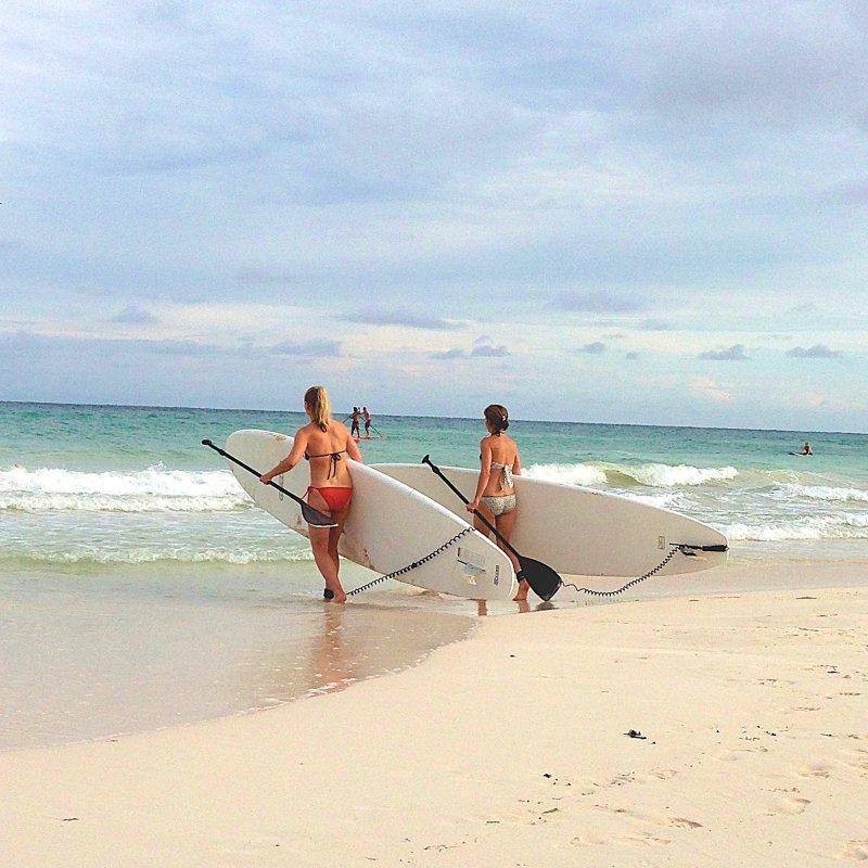 Stand Up Paddle Boarding Tour to Tulum Ruins