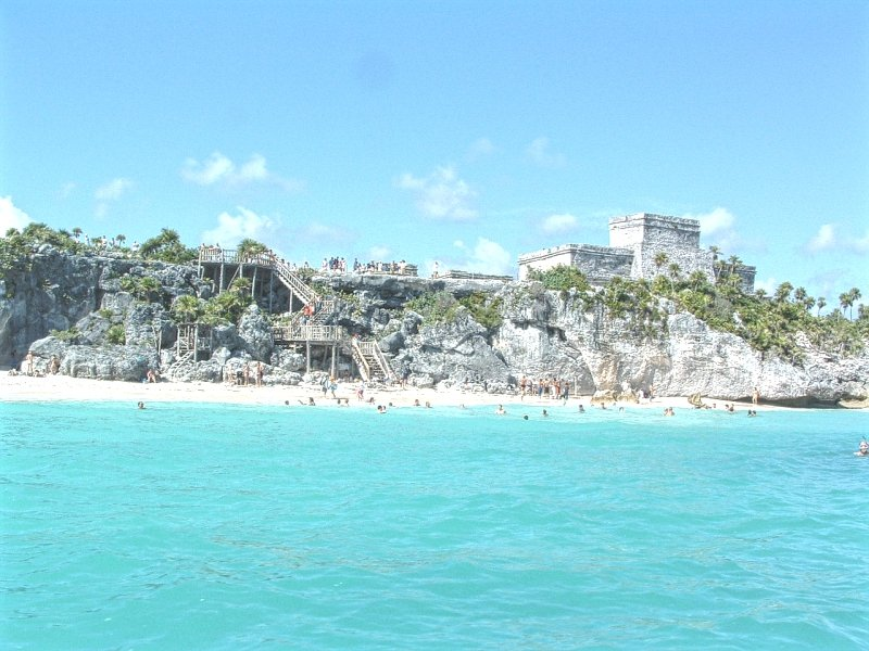 Tulum Ruins from a Paddle Boarding