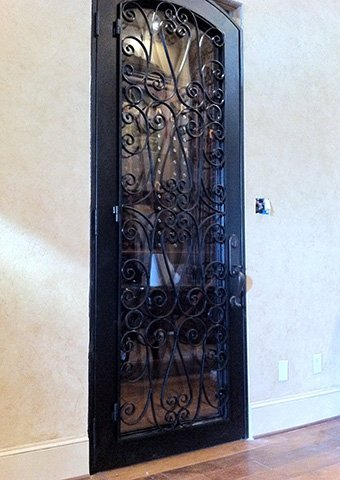 Get lots of ideas for your custom wine door. View our wine door gallery to get started! & Wrought Iron Wine Cellar Doors in Katy Houston Sugar Land ...
