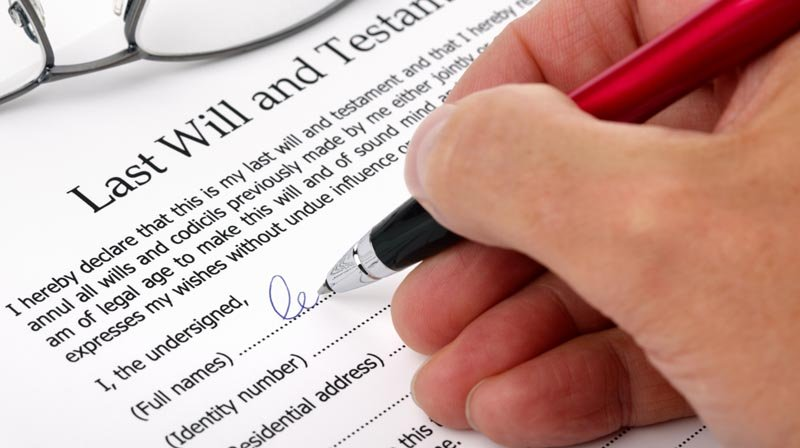 Client receiving inheritance law services in Perth