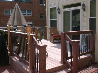 Composite Deck for a New Home