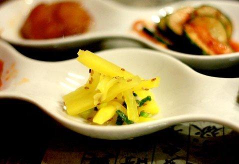 sample meal at Riverside Korean Restaurant