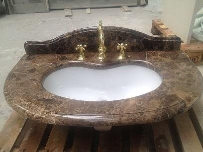 brown marble washbasin