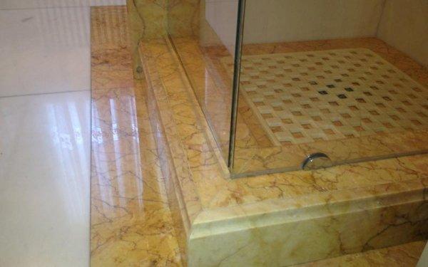 Granite shower tray detail