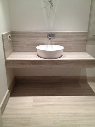 stoneware cladded washbasin
