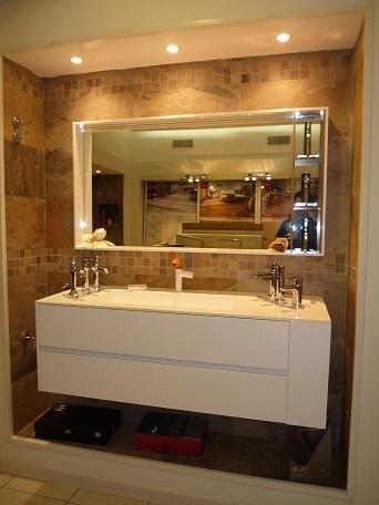 mobile bagno laccato bianco