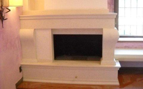 White fireplaces