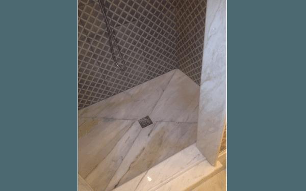 Granite shower tray