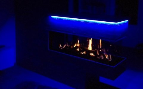 Lighting for fireplaces