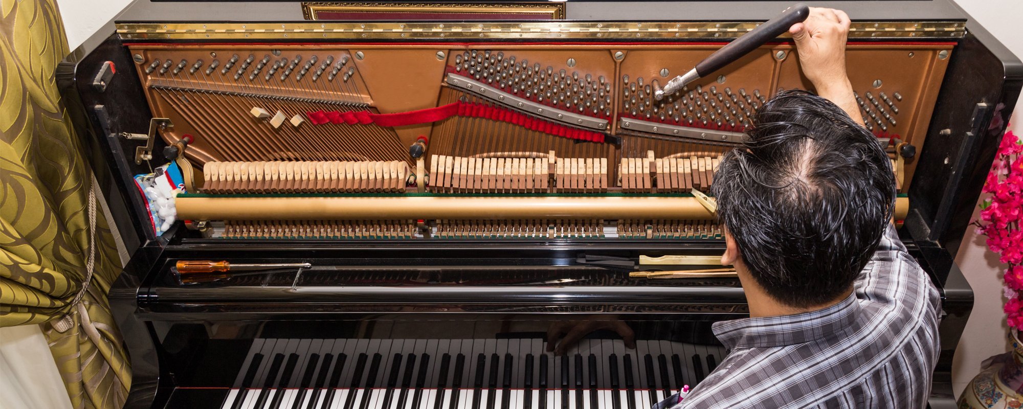 Tuning of piano by expert