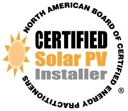 NABCEP Certified Solar PV Installer