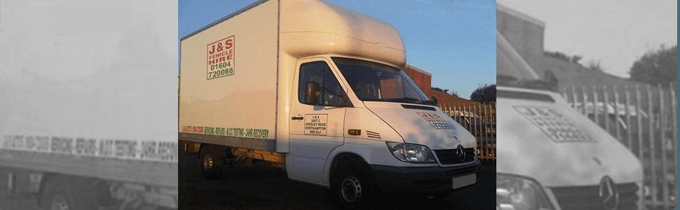 White rental van