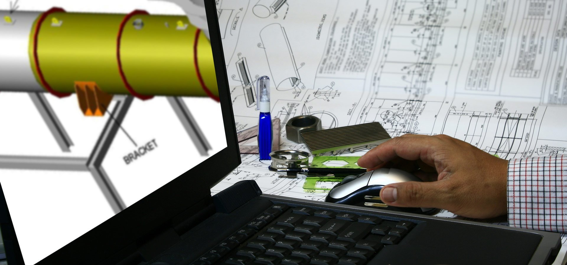 australian locating services an engineer draw his design into the computer using cad design