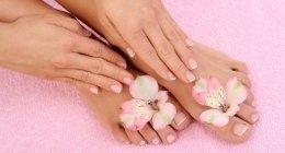 manicure, pedicure, scrub