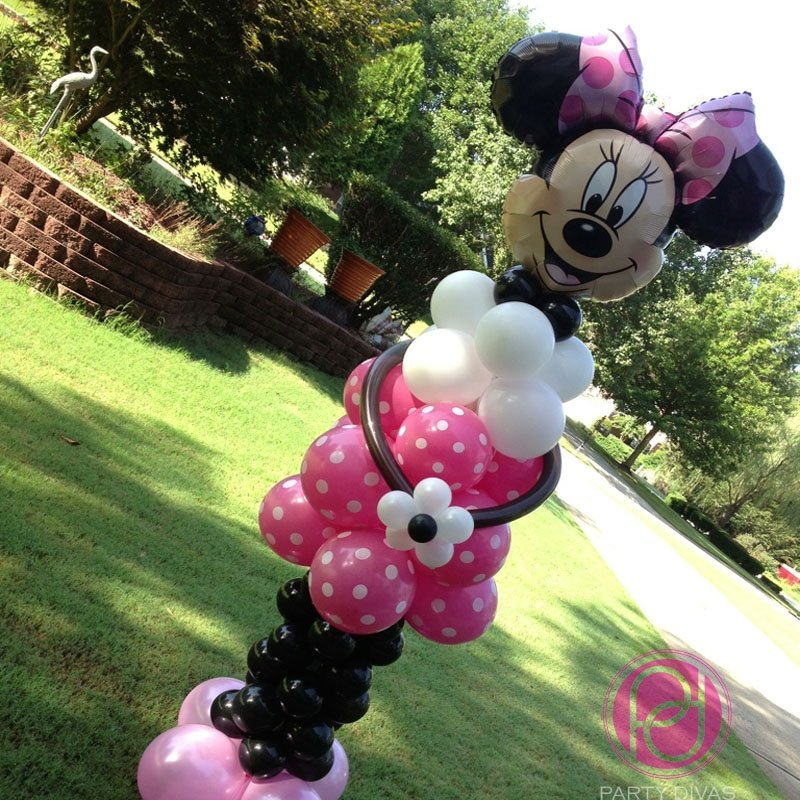 minnie mouse, balloon decor