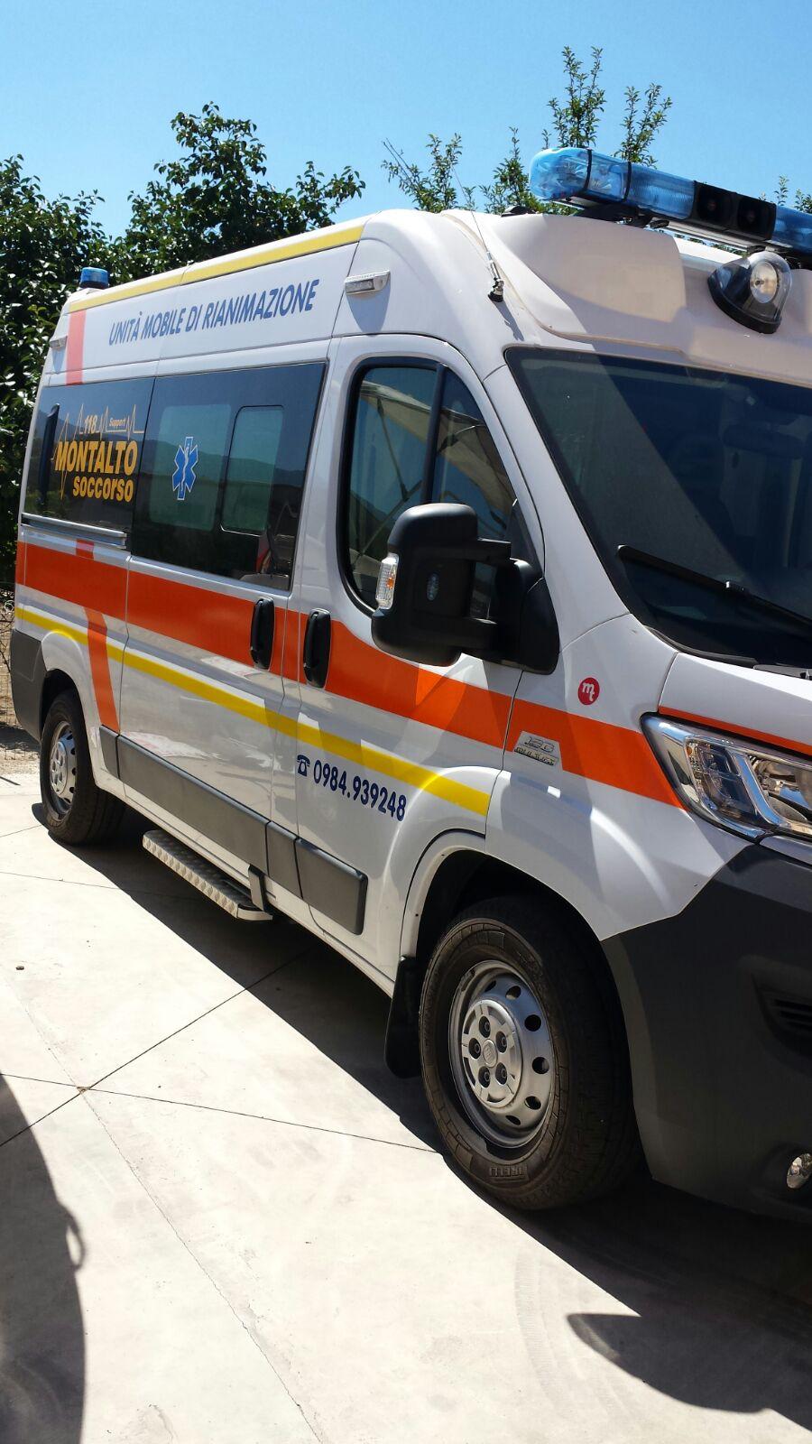 ambulanza per il soccorso