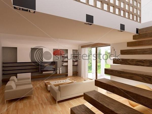Scale in legno senza alzata